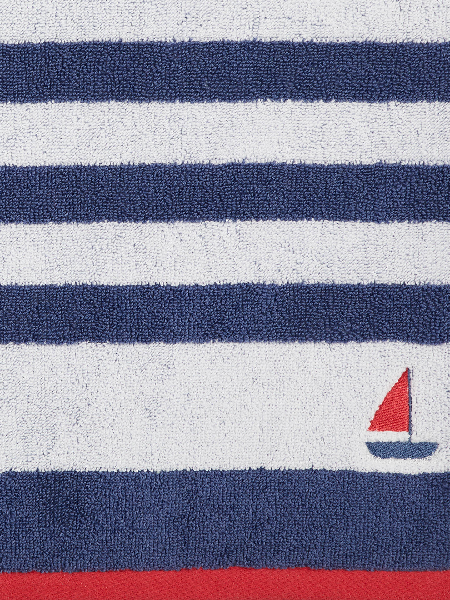 BuyJohn Lewis & Partners Coastal Lost at Sea Face Cloth, Navy Online at johnlewis.com