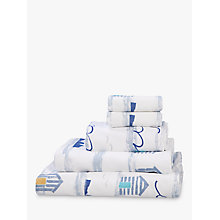 Buy John Lewis Coastal Day at the Beach Cotton Towels, Multi Online at johnlewis.com