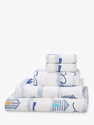 John Lewis & Partners Coastal Day at the Beach Cotton Towels, Multi