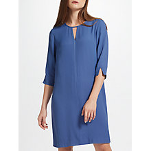 Buy John Lewis Tipped Shift Dress, Blue Online at johnlewis.com