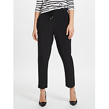 Buy John Lewis Crepe Soft Tailored Joggers, Black Online at johnlewis.com