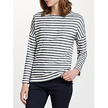 Buy Collection WEEKEND by John Lewis Cotton Drop Sleeve Stripe Top Online at johnlewis.com