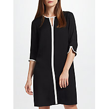 Buy John Lewis Tipped Shift Dress, Black Online at johnlewis.com