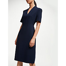 Buy John Lewis Pleat Neck Fitted Dress Online at johnlewis.com