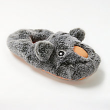 Buy John Lewis Moz The Monster Children's Slippers, Grey Online at johnlewis.com