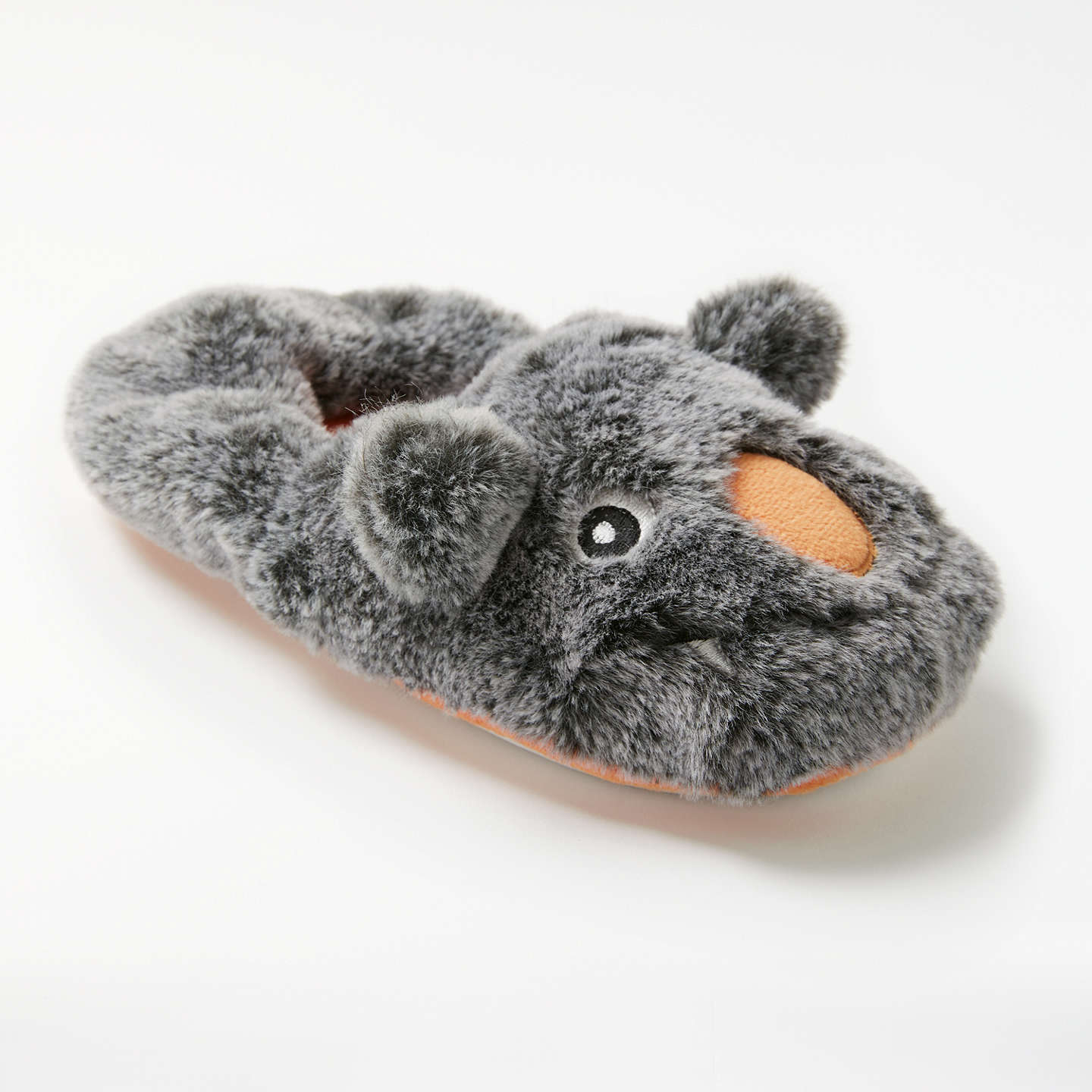 BuyJohn Lewis Moz The Monster Children's Slippers, Grey, 6 Jnr Online at johnlewis.com