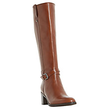 Buy Dune Black Timmie Block Heeled Knee High Boots Online at johnlewis.com