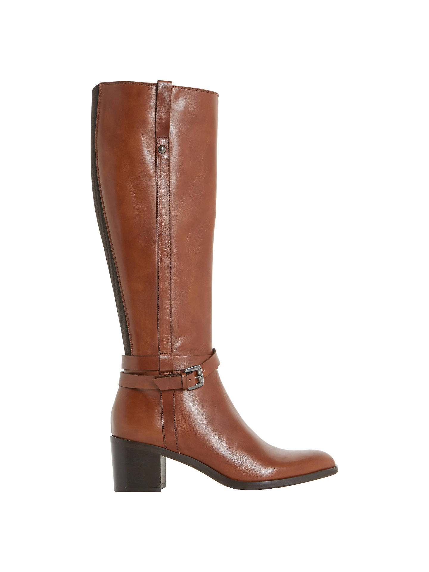 018a7a9e6074 Buy Dune Black Timmie Block Heeled Knee High Boots, Brown, 3 Online at  johnlewis ...