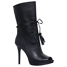 Buy MICHAEL Michael Kors Rosalie Peep Toe Shoe Boots, Black Online at johnlewis.com
