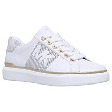 Buy MICHAEL Michael Kors Max Lace Up Trainers, White Online at johnlewis.com