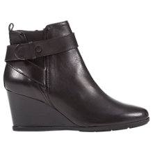 Buy Geox Inspiration Wedge Heel Buckle Ankle Boots, Black Online at johnlewis.com