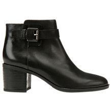 Buy Geox Glynna Buckle Block Heeled Ankle Boots Online at johnlewis.com