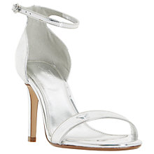 Buy Dune Wide Fit Mortimer Stiletto Heeled Sandals, Silver Online at johnlewis.com