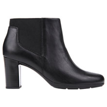 Buy Geox Annya Block Heeled Ankle Boots, Black Online at johnlewis.com