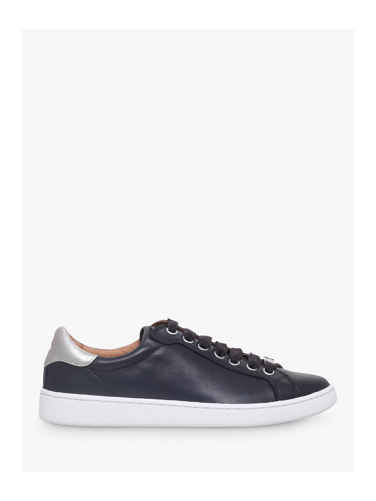 79f2caf0515 UGG Milo Lace Up Trainers, Black Leather at John Lewis & Partners