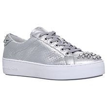 Buy MICHAEL Michael Kors Poppy Embellished Lace Up Trainers, Silver Online at johnlewis.com