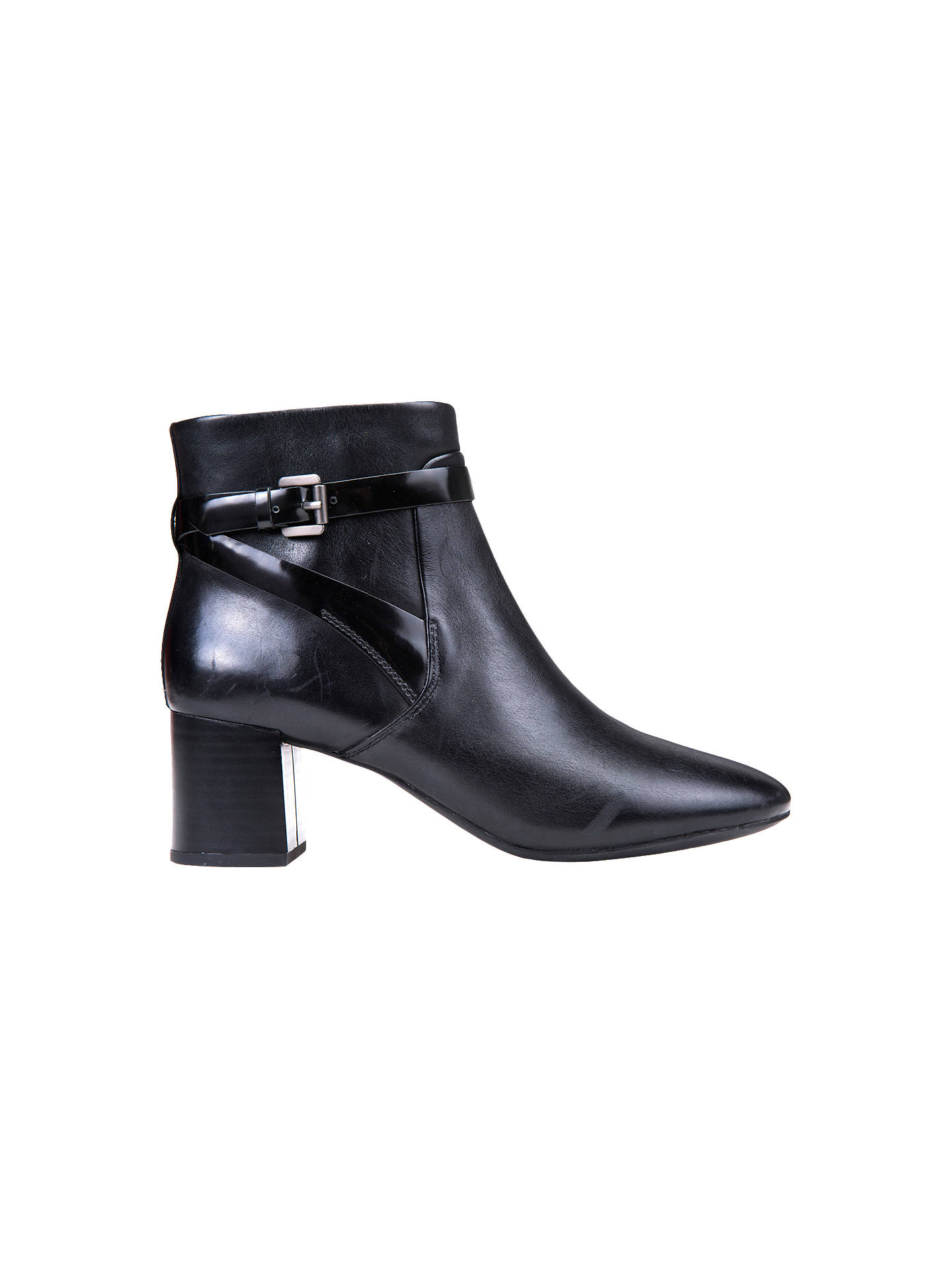 Geox Audalies Block Heeled Ankle Boots Black 3 Online At Johnlewis