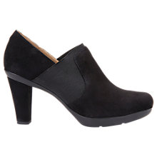 Buy Geox Inspiration Block Heeled Shoe Boots, Black Online at johnlewis.com