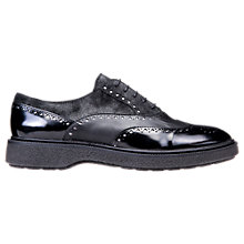Buy Geox Prestyn Flat Lace-Up Brogues, Black Online at johnlewis.com