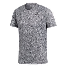 Buy adidas D2M Heathered Training T-Shirt, Black Online at johnlewis.com