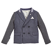 Buy Angel & Rocket Boys' Double Breasted Blazer Jacket, Grey Online at johnlewis.com