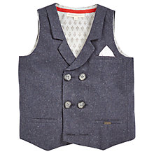 Buy Angel & Rocket Boys' Single Breasted Waistcoat, Grey Online at johnlewis.com