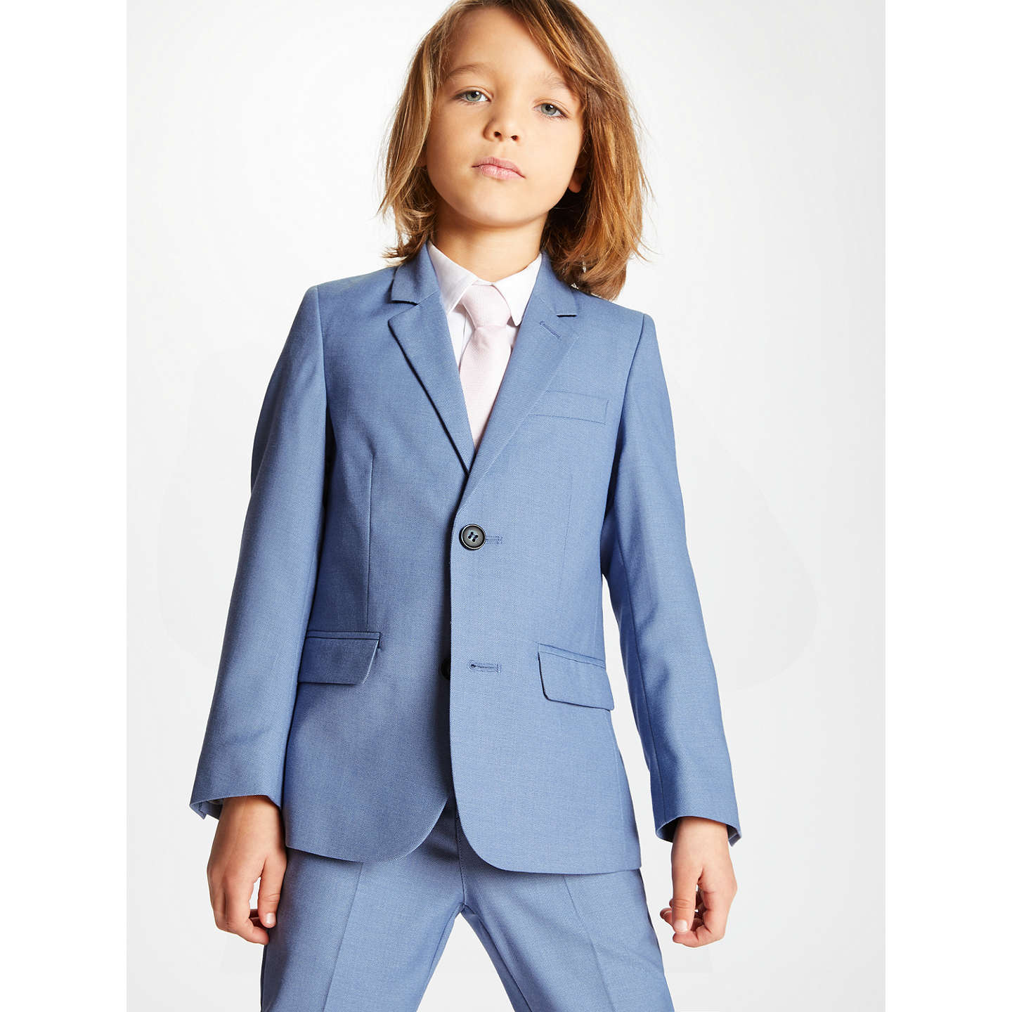 John Lewis Heirloom Collection Boys\' Suit Jacket, Mid Blue at John Lewis