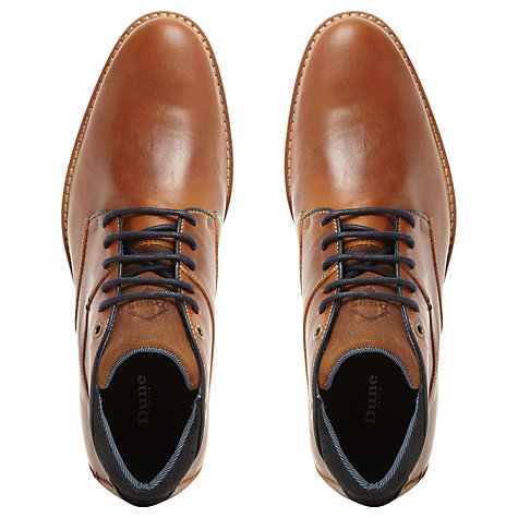 Buy Dune Chum Leather Shoes, Tan Online at johnlewis.com