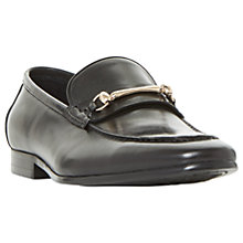 Buy Dune Pinnochio Classic Snaffle Loafers, Black Online at johnlewis.com