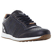 Buy Dune Texas Fabric Trainers, Navy Online at johnlewis.com