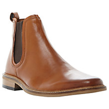 Buy Dune Malaga Leather Chelsea Boots, Tan Online at johnlewis.com