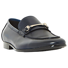 Buy Dune Pinnochio Classic Snaffle Loafers, Navy Online at johnlewis.com