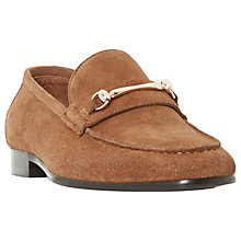 Buy Dune Pinnochio Classic Snaffle Suede Loafers Online at johnlewis.com