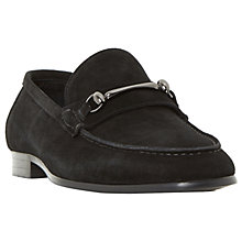 Buy Dune Pinnochio Classic Snaffle Suede Loafers, Black Online at johnlewis.com