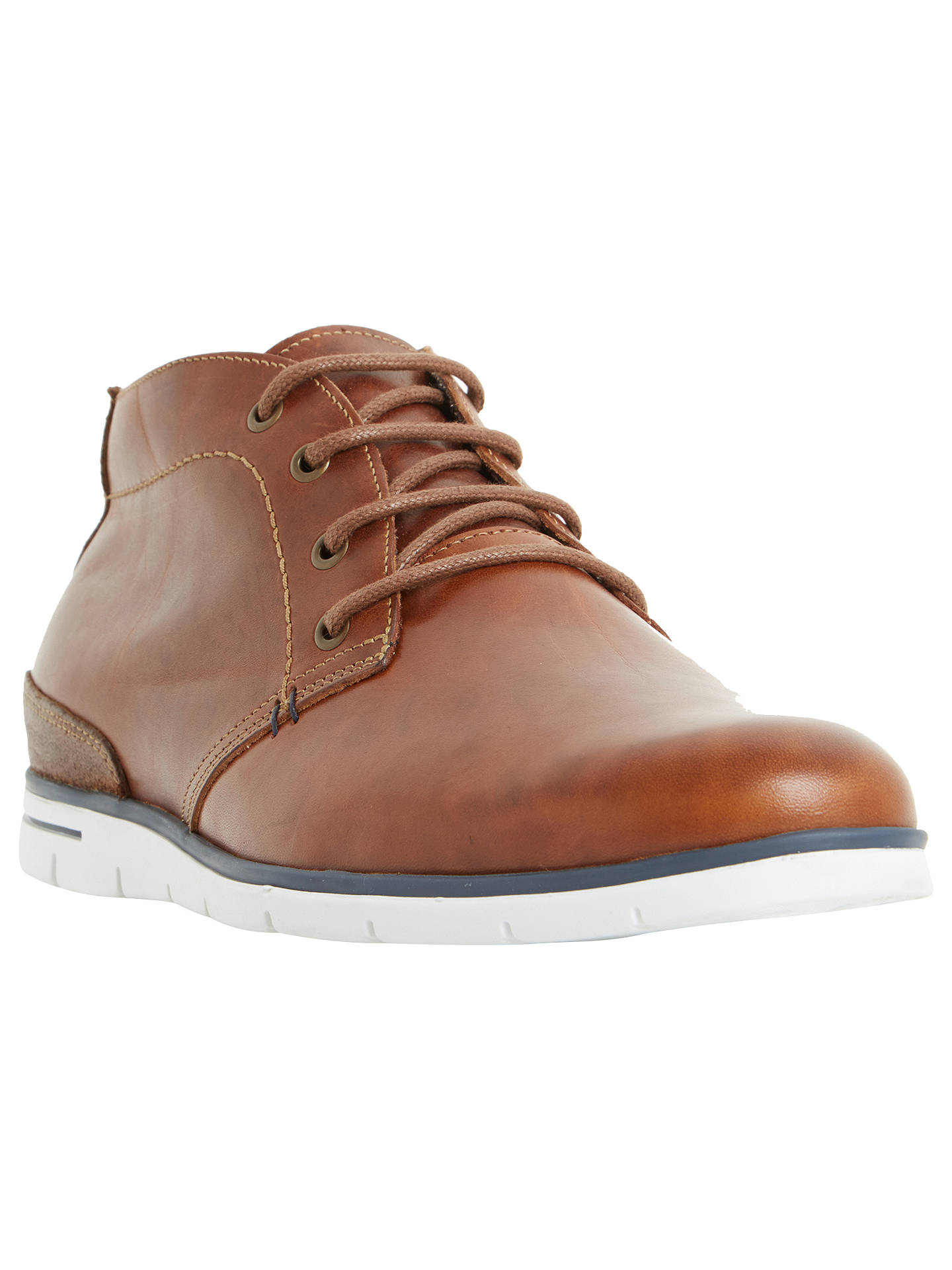 BuyDune Cookee Lace-Up Leather Shoes, Tan, 7 Online at johnlewis.com