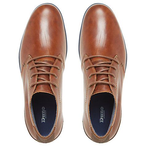 Buy Dune Cookee Lace-Up Leather Shoes, Tan Online at johnlewis.com