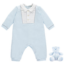 Buy Emile et Rose Miles All-in-One Jersey Two Piece Set, Blue Online at johnlewis.com