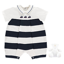 Buy Emile et Rose Baby Monty Romper Set, Navy/White Online at johnlewis.com