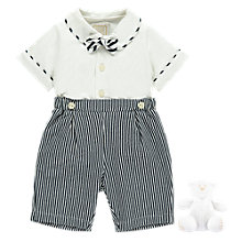 Buy Emile et Rose Baby Mickey 2 Piece Set, Navy/White Online at johnlewis.com