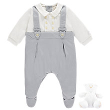 Buy Emile et Rose Martin Romper 2 Piece Set, Grey/White Online at johnlewis.com