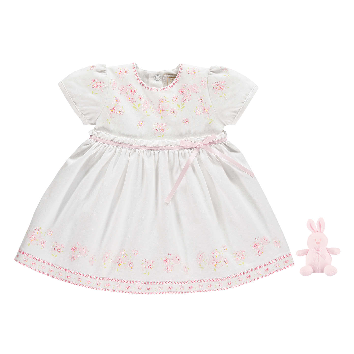 Emile et Rose Baby Maddy Dress And Jersey Pants Pink White at John
