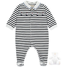 Buy Polarn O. Pyret Baby Mario All-in-One, Navy Stripe Online at johnlewis.com