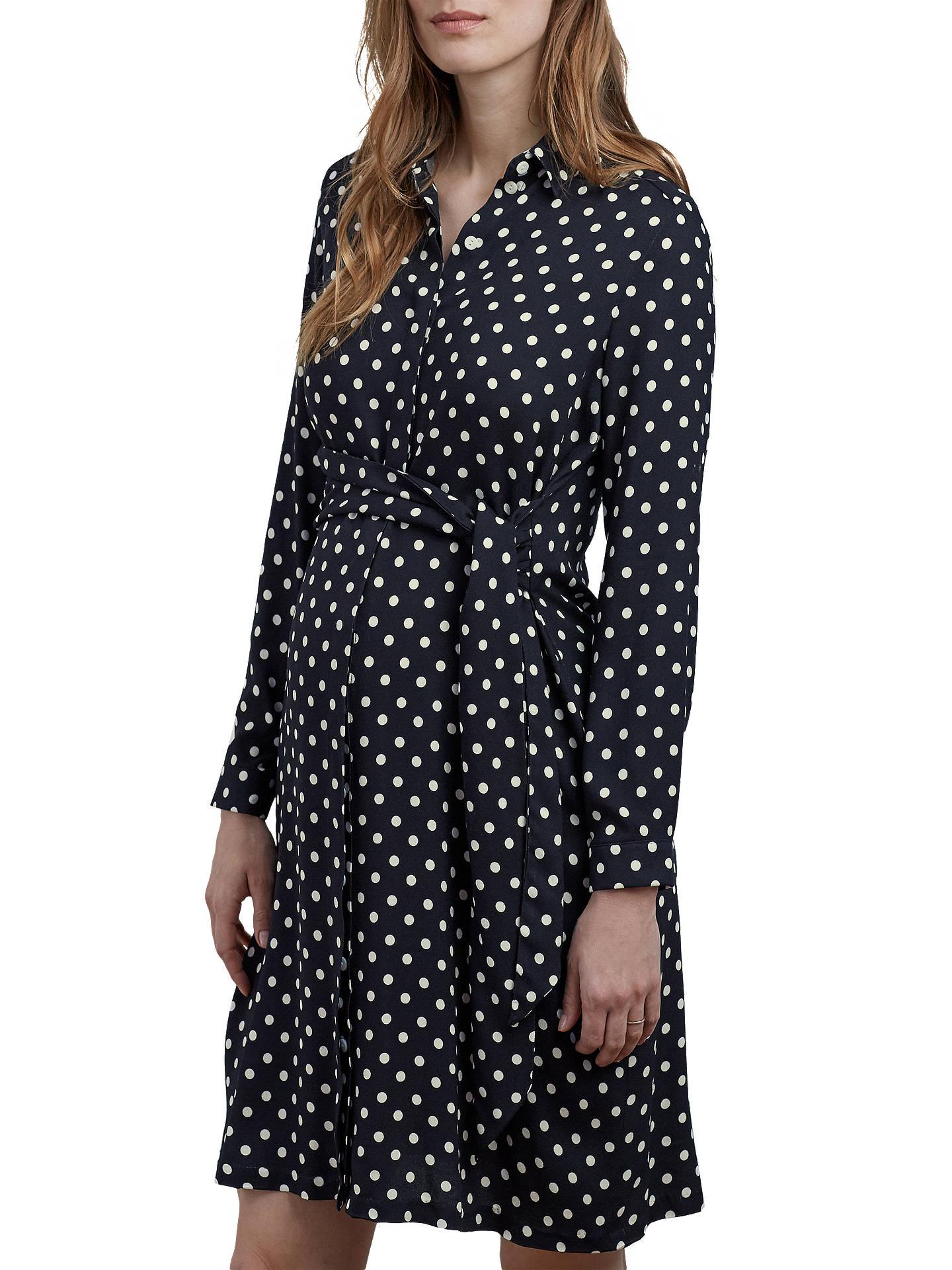 2510a51bed12a Buy Isabella Oliver Elisha Maternity Shirt Dress, Black/White, 8 Online at  johnlewis ...
