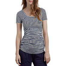 Buy Isabella Oliver Cap Sleeve Stripe Maternity Top, Navy/White Online at johnlewis.com