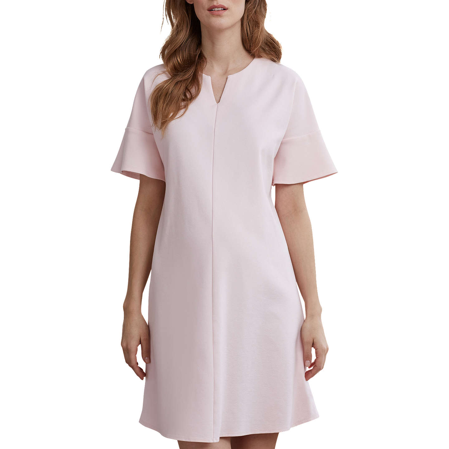 Isabella Oliver Reese Ponte Maternity Dress, Blush Pink at ...
