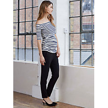 Buy Isabella Oliver Billie Off The Shoulder Maternity Top, Navy/White Online at johnlewis.com
