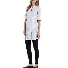 Buy Isabella Oliver Libby Tunic Maternity Dress, White Online at johnlewis.com
