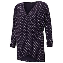 Buy Isabella Oliver Nursing Spot Crossover Top, Navy Online at johnlewis.com
