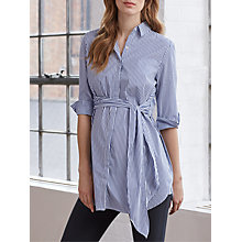 Buy Isabella Oliver Dora Stripe Maternity Shirt, Blue/White Online at johnlewis.com