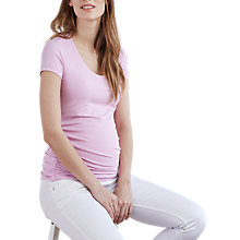 Buy Isabella Oliver Scoop Neck Jersey Top, Lilac Online at johnlewis.com